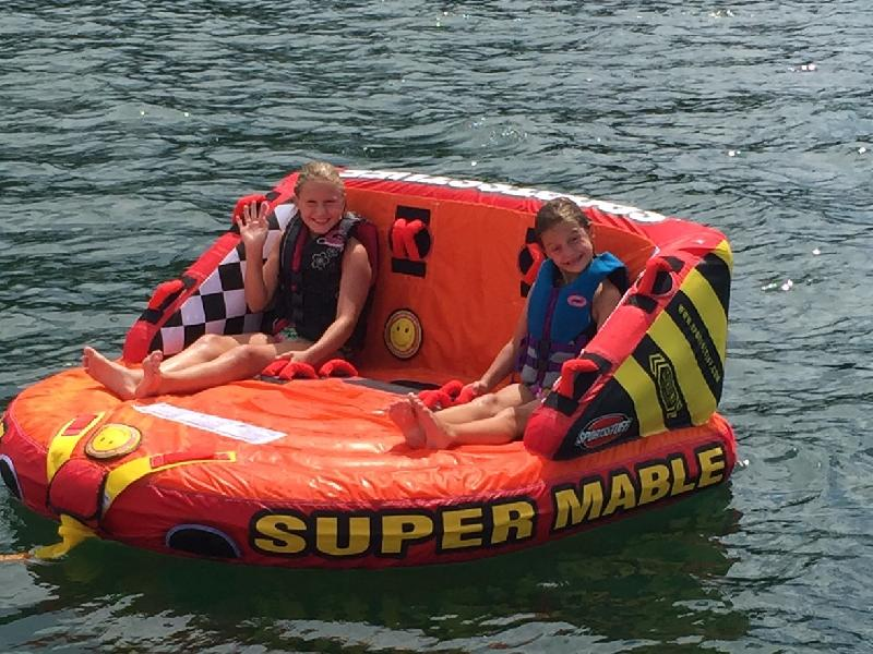 You're never to young for tubing